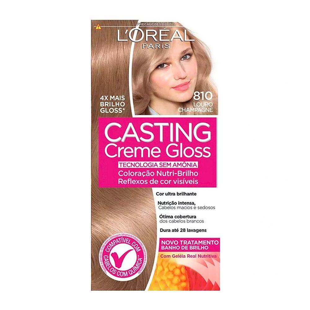 Coloração sem Amônia Casting Creme Gloss 810 Louro Perola
