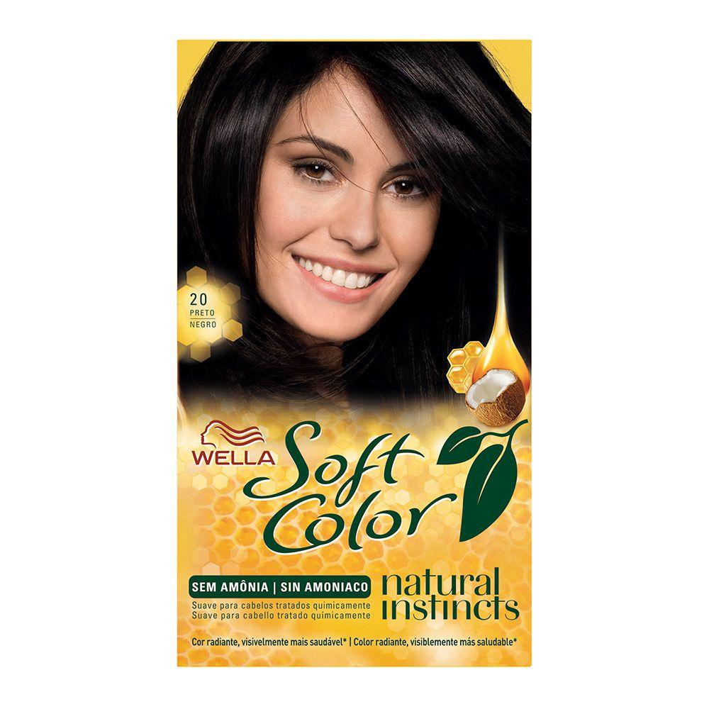 Coloração sem Amônia Soft Color 20 Preto