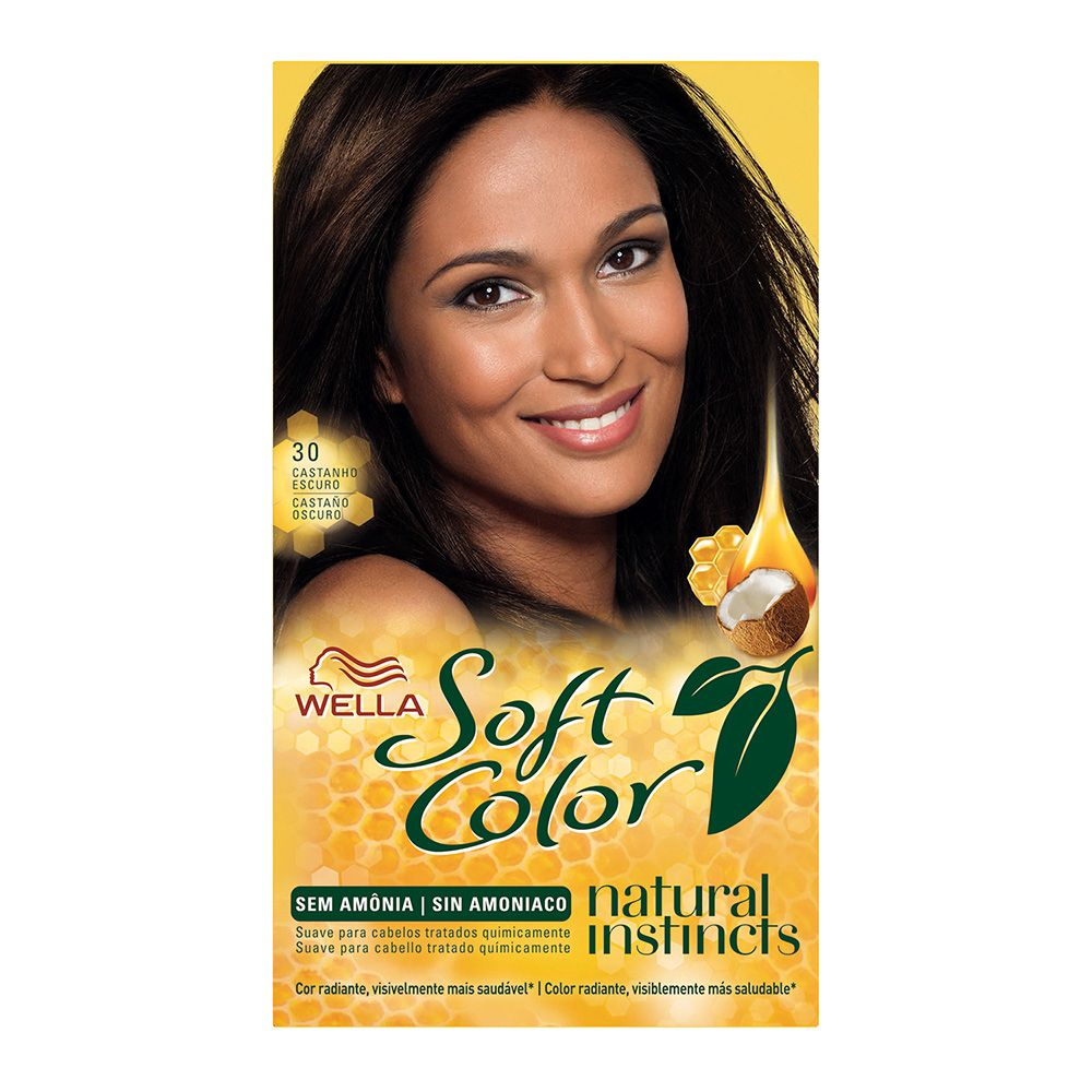 Coloração sem Amônia Soft Color 30 Castanho Escuro