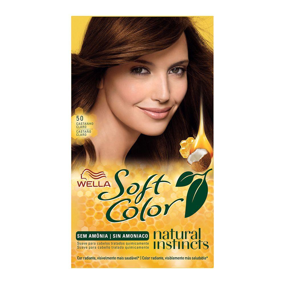 Coloração sem Amônia Soft Color 50 Castanho Claro