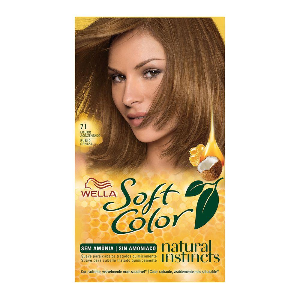 Coloração sem Amônia Soft Color 71 louro Acinzentado