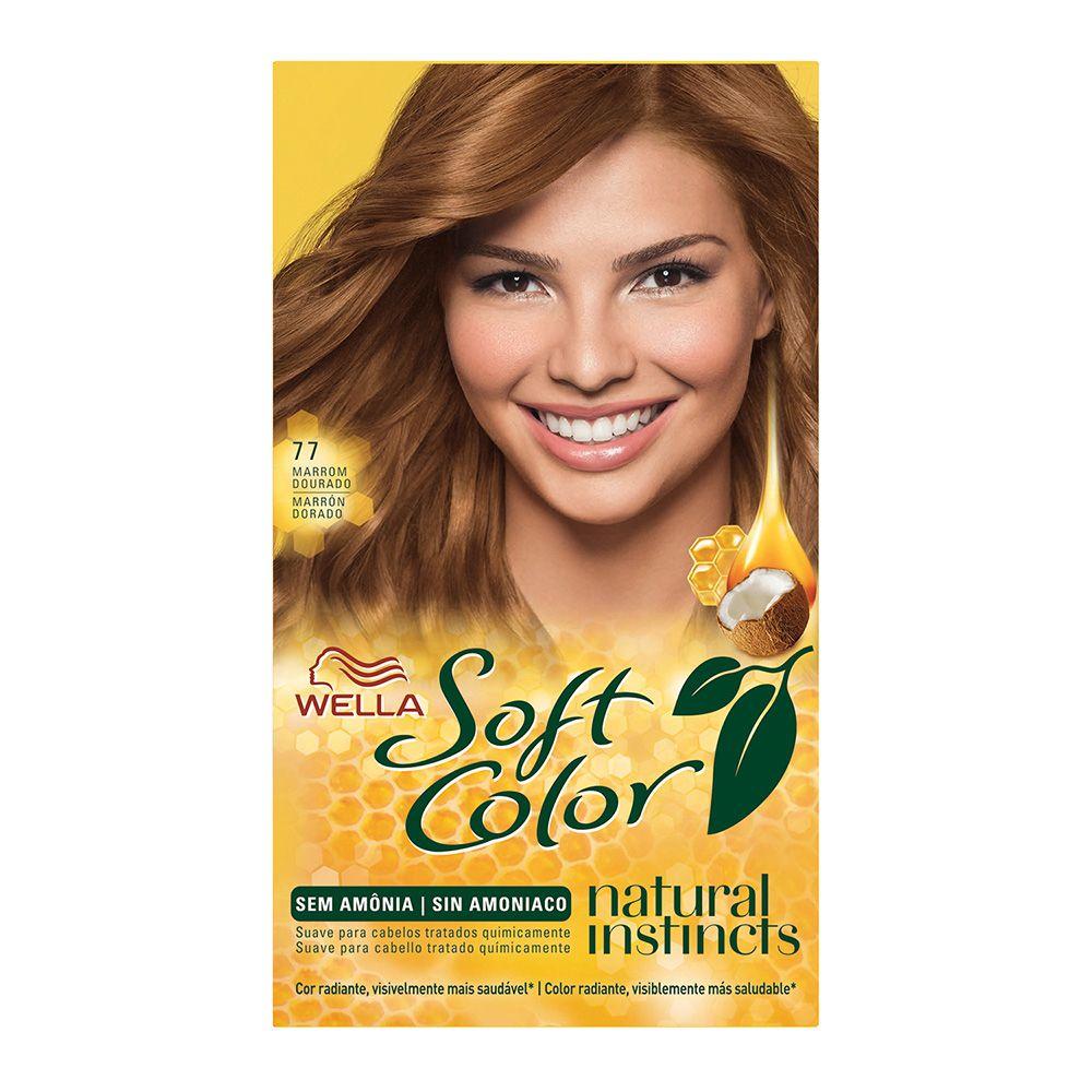 Coloração sem Amônia Soft Color 77 Marrom Dourado