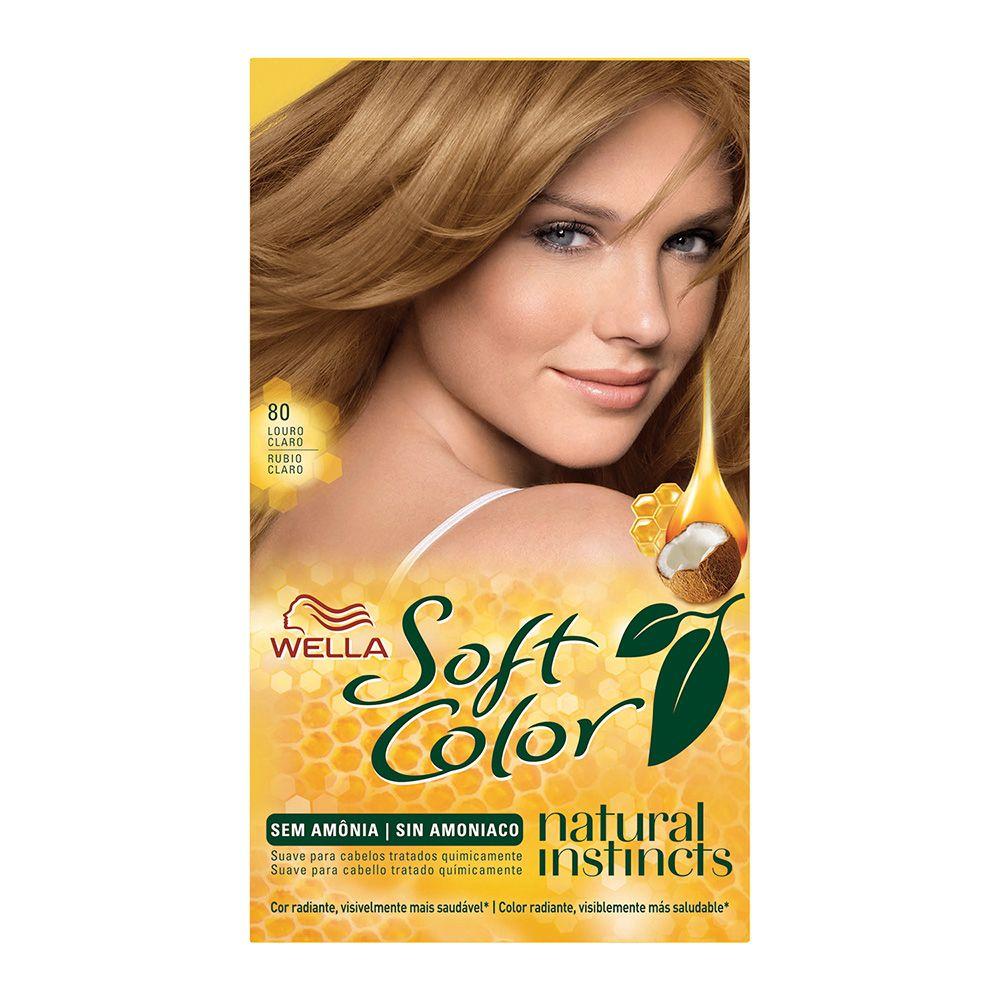 Coloração sem Amônia Soft Color 80 Louro Claro