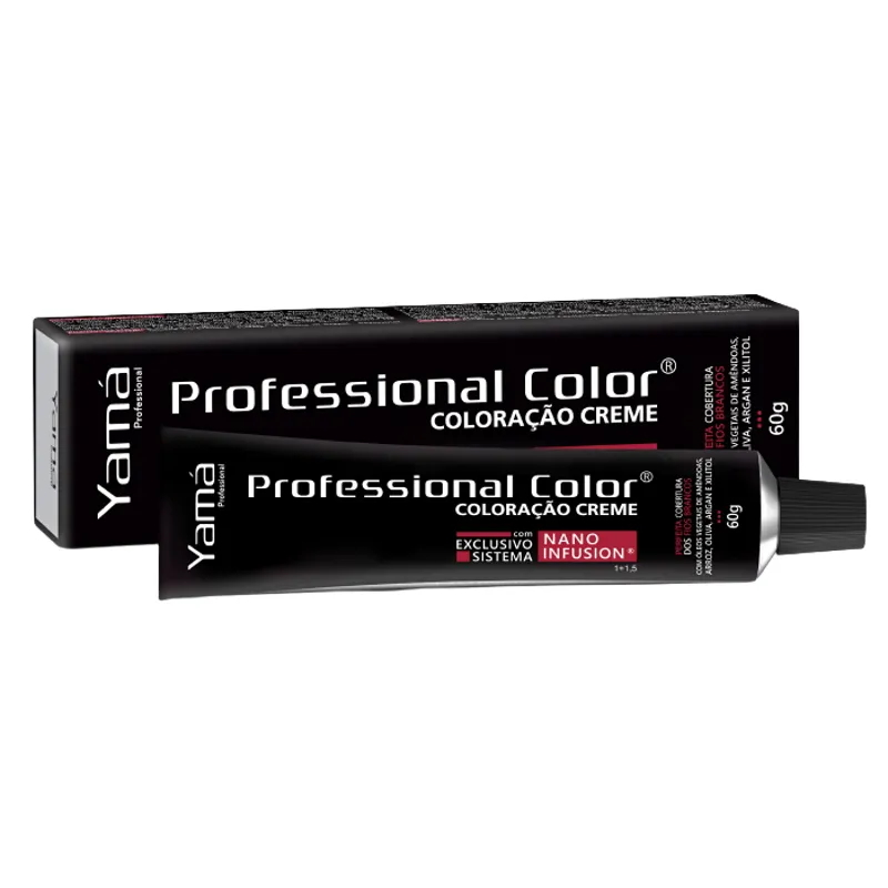 Coloração Yamá Professional Nano Infusion 8.66 Louro Claro Vermelho Intenso