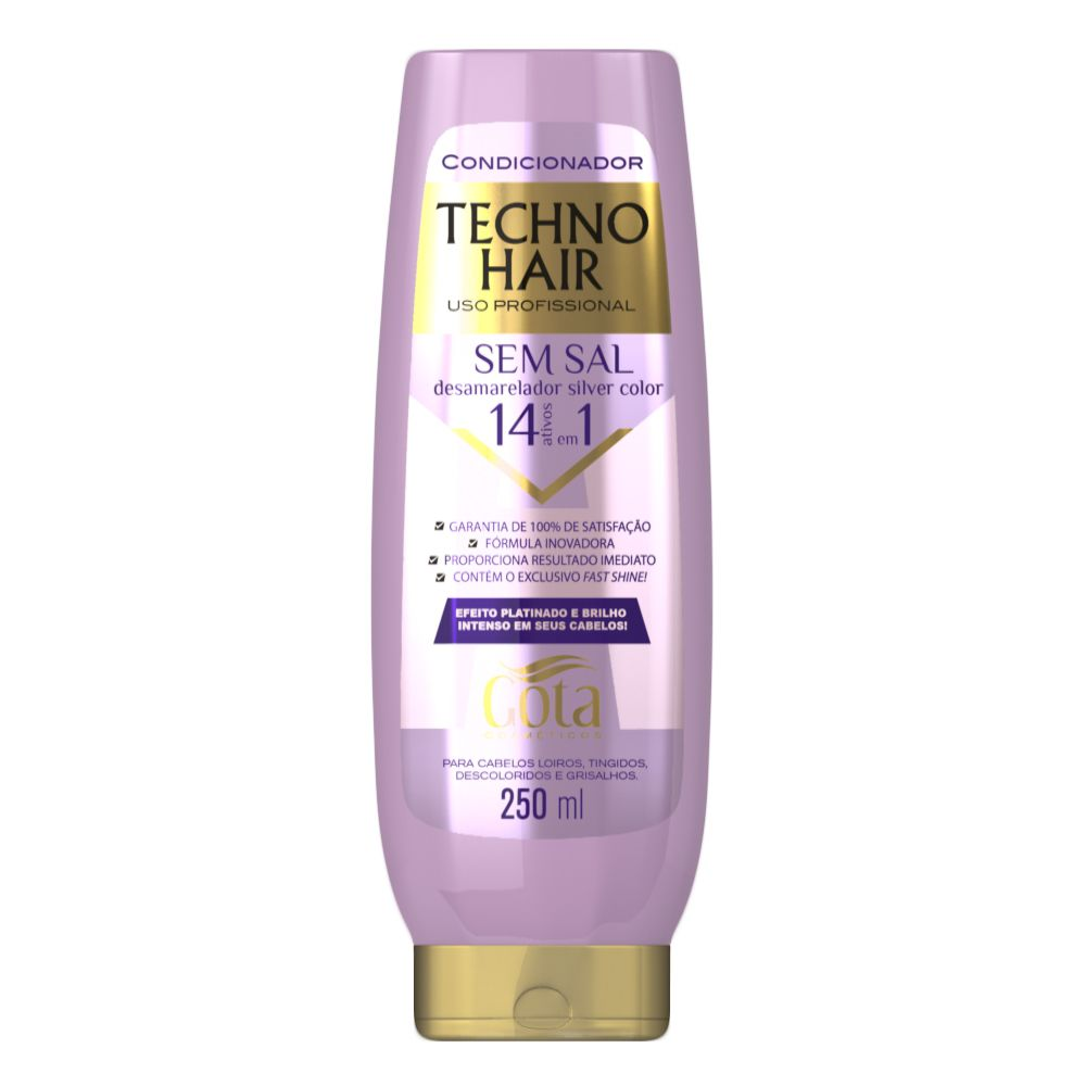 Condicionador Techno Hair Desamarelador Silver Color 250ml