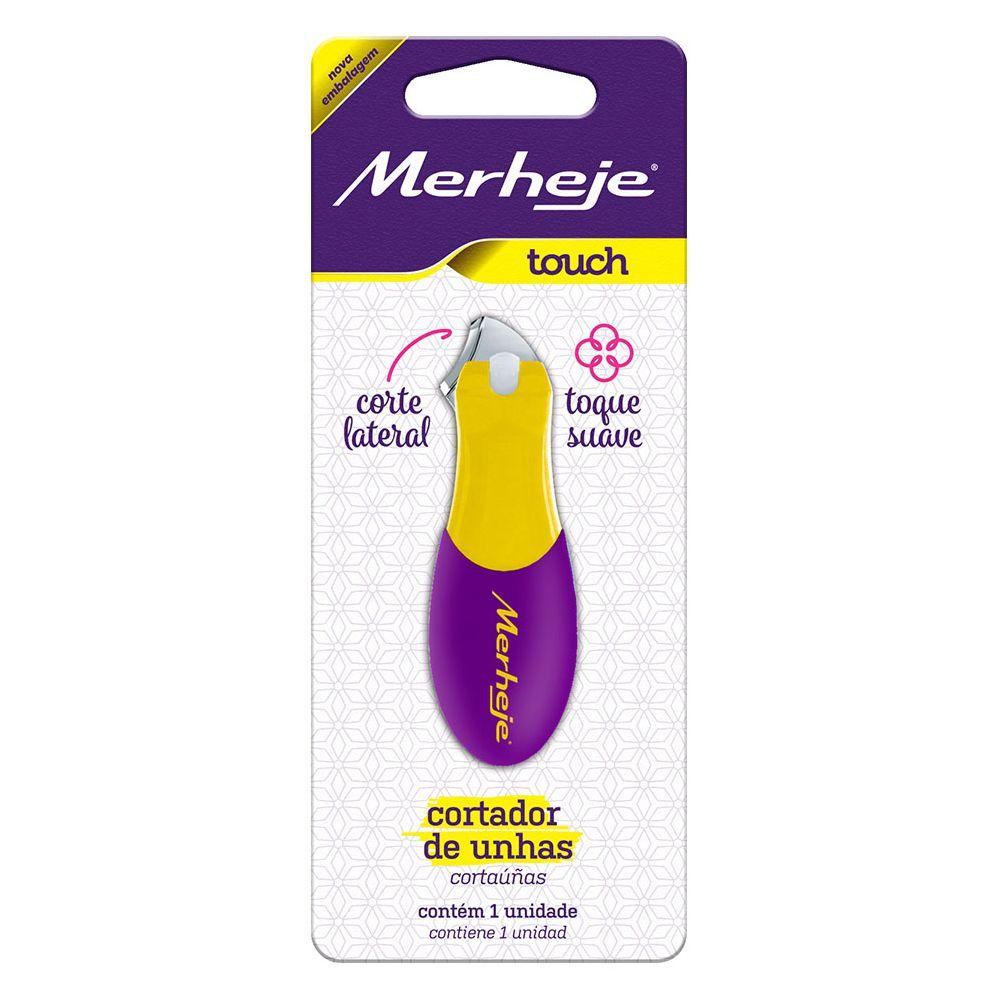Cortador de Unhas Merheje Touch Amarelo/Roxo