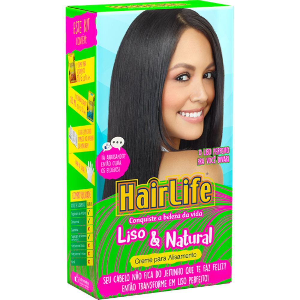Creme Alisante HairLife Liso e Natural
