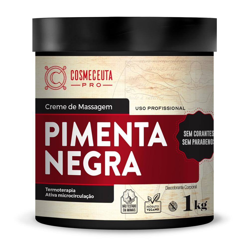 Creme de Massagem Cosmeceuta Pimenta Negra 1kg