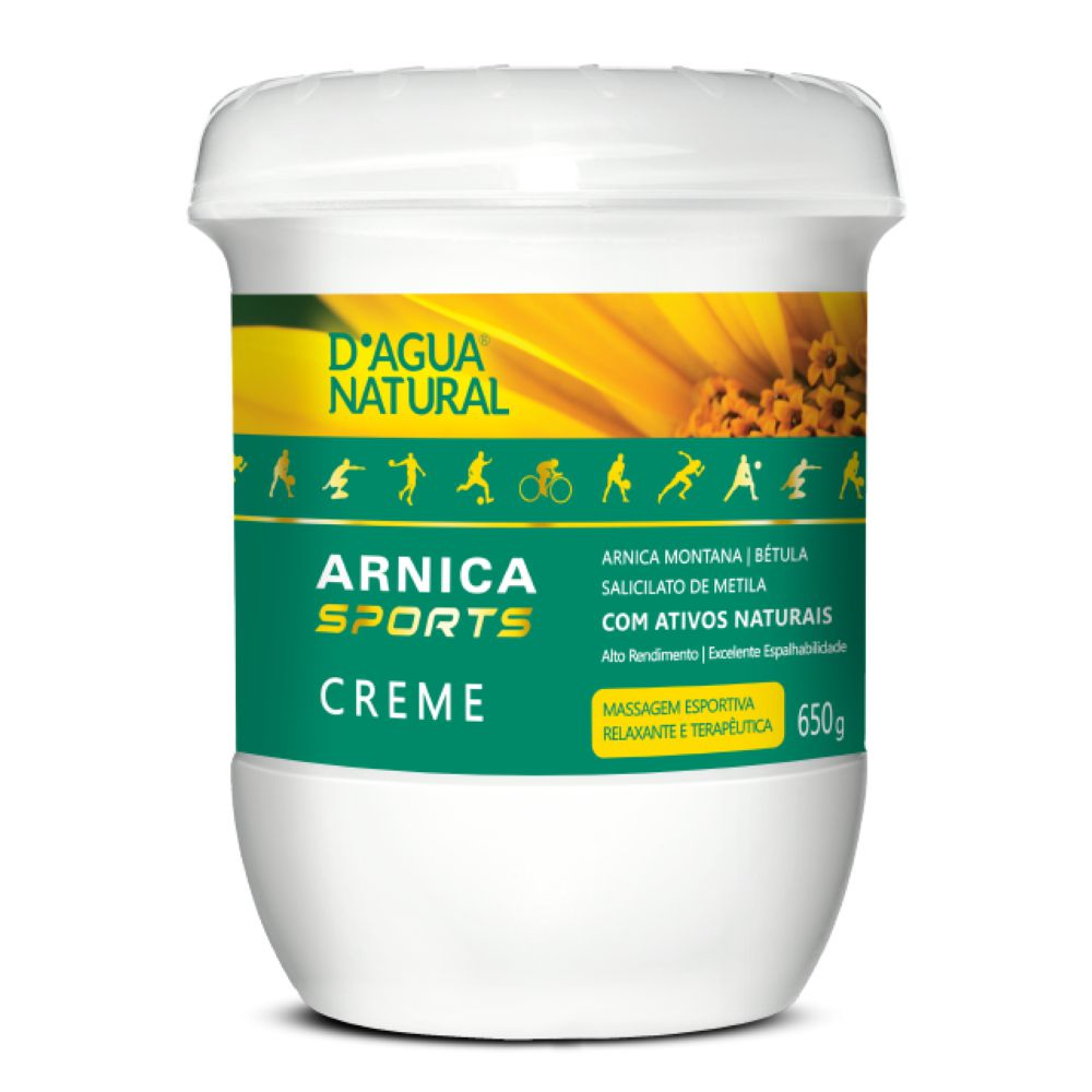 Creme de Massagem D agua Natural Arnica Sports 650g