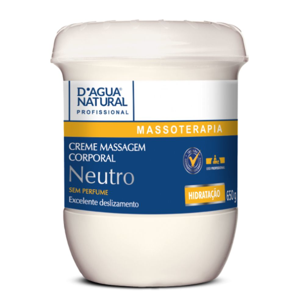 Creme de Massagem D agua Natural Neutro 650g