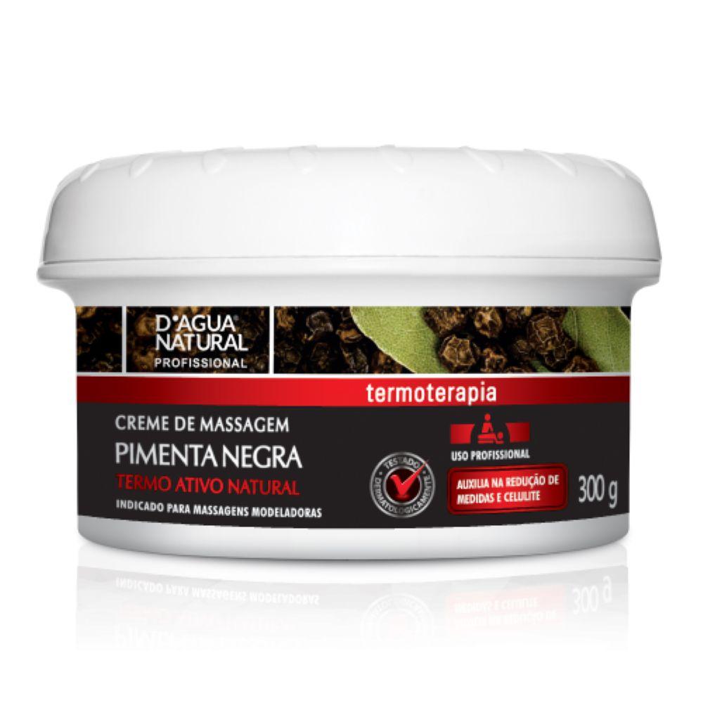 Creme de Massagem D agua Natural Pimenta Negra 300g