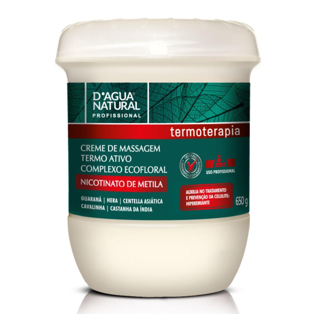 Creme de Massagem D agua Natural Termo Ativo Ecofloral 650g