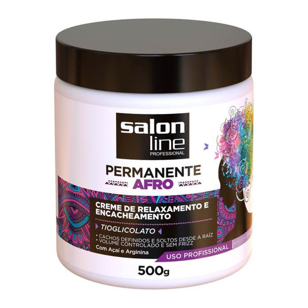Creme de Relaxamento e Encacheamento Salon Line Permanente Afro 500g