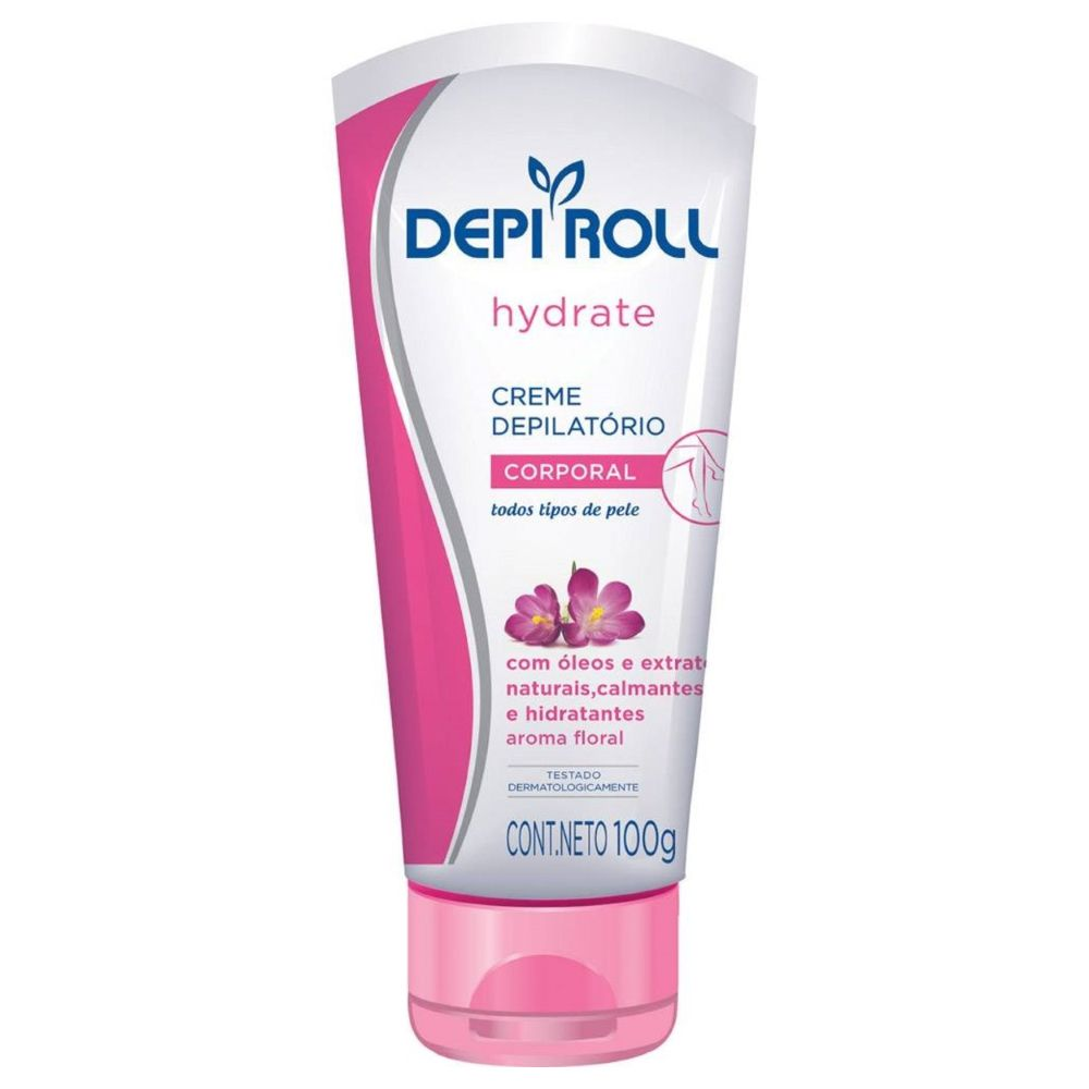Creme Depilatório Corporal Depi Roll Floral 100g