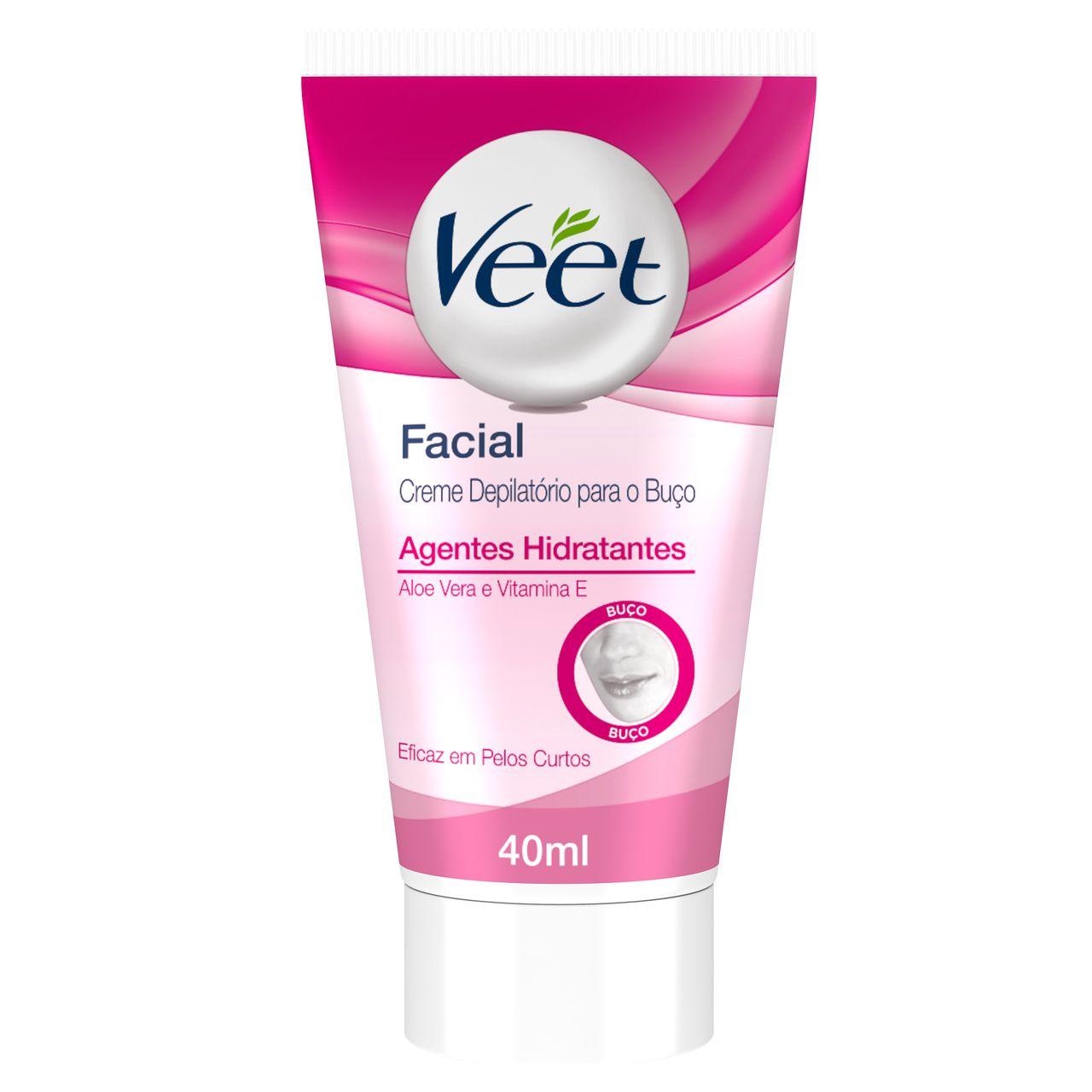 Creme Depilatório Facial Veet 40ml Aloe Vera e Vitamina E