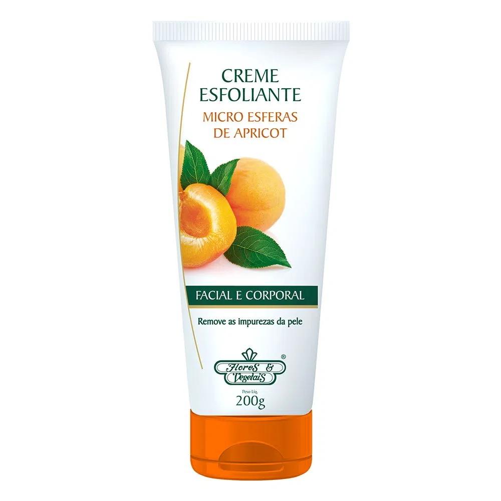 Creme Esfoliante Apricot Flores e Vegetais 200g