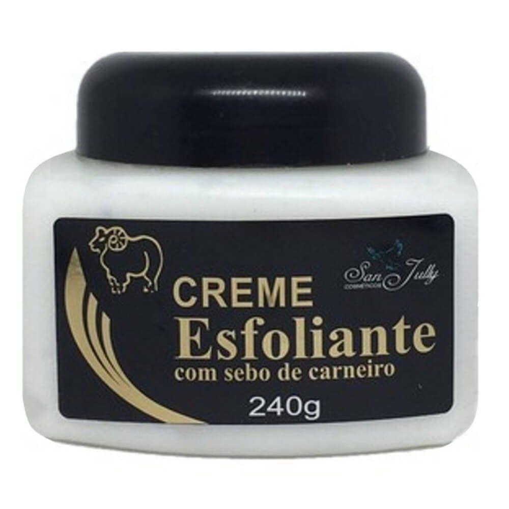 Creme Esfoliante com Sebo de Carneiro San Jully 240g