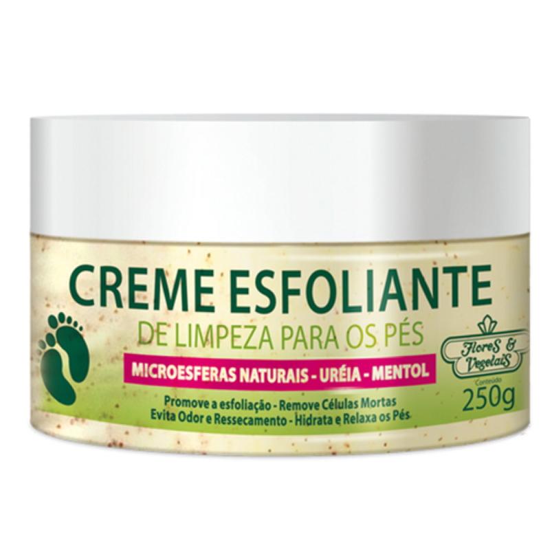 Creme Esfoliante de Limpeza Pés Flores e Vegetais 250g