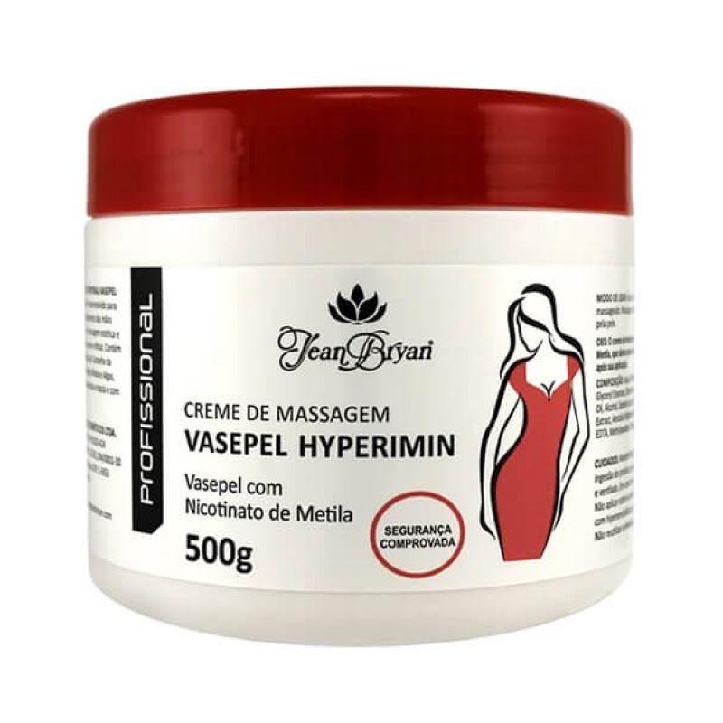 Creme para Massagem Jean Bryan Termo ativo Vasepel Hyperemin 500g