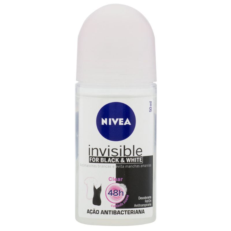 Desodorante Nivea Roll On Invisible For Black & White 50ml
