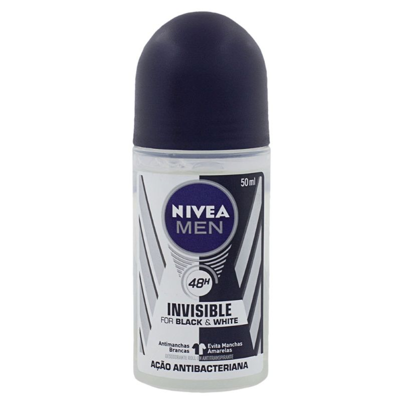 Desodorante Nivea Roll On Men Invisible For Black & White 50ml