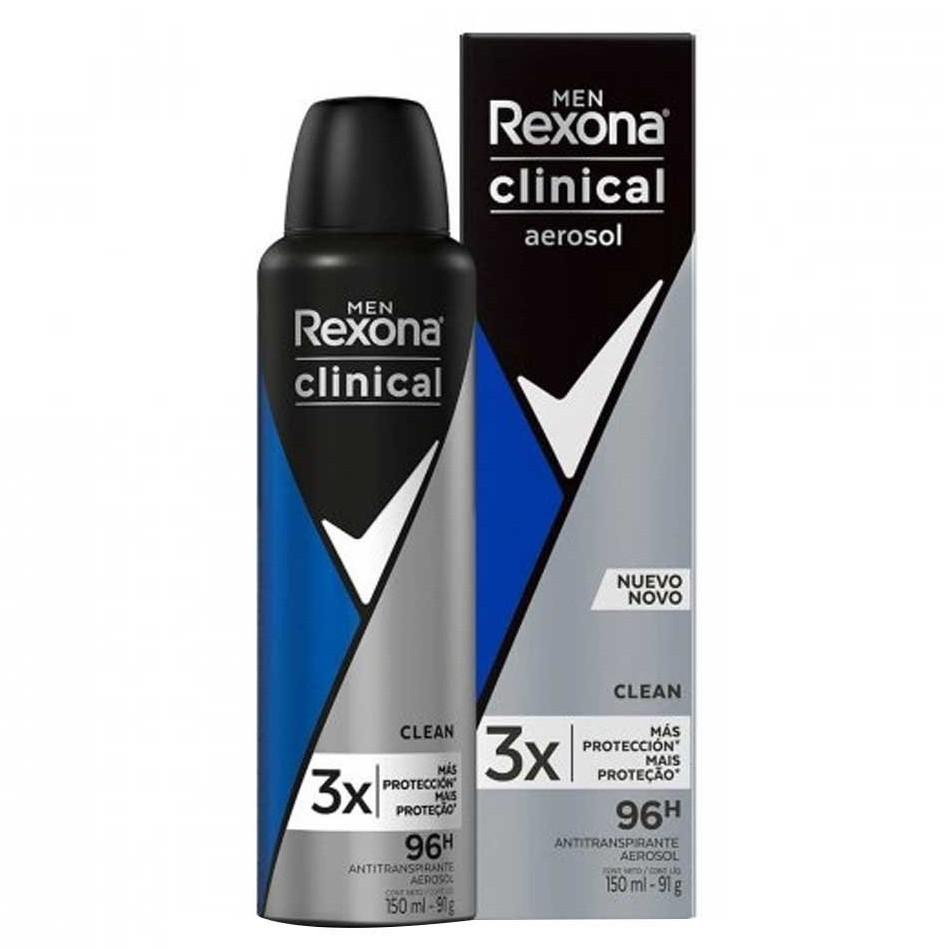 Desodorante Rexona Clinical Men Clean Aerosol 150ml