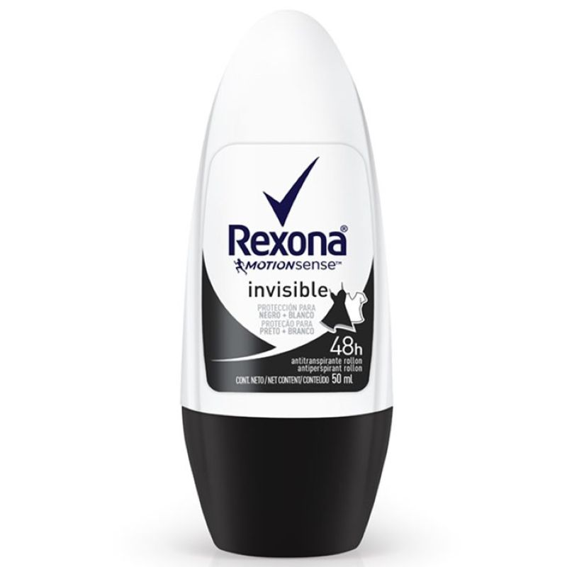 Desodorante Rexona Roll-on Invisible 50ml  - Sofí Cosméticos
