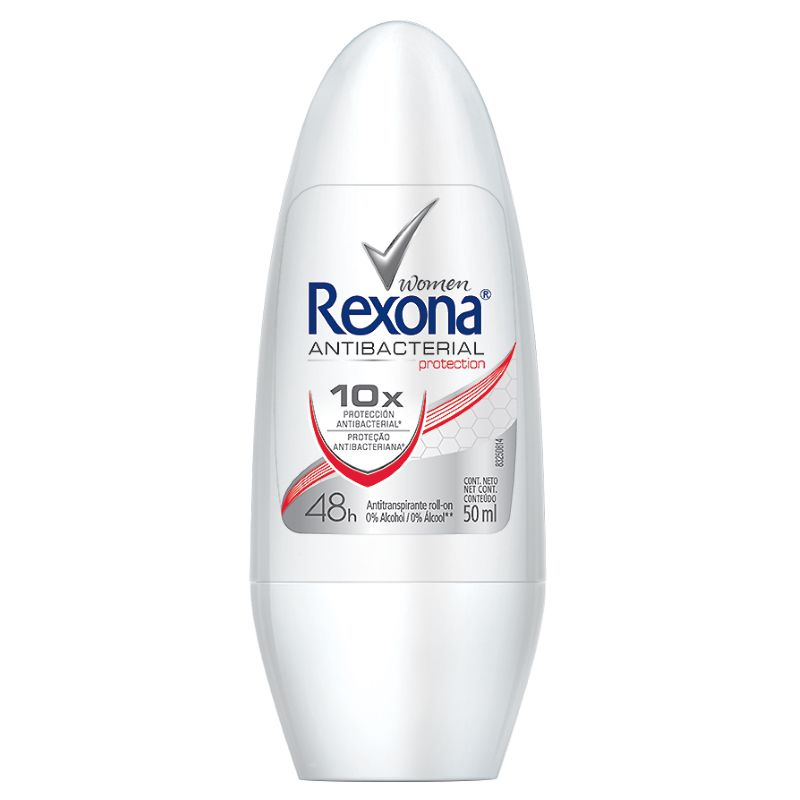 Desodorante Rexona Roll-on Antibacterial 50ml