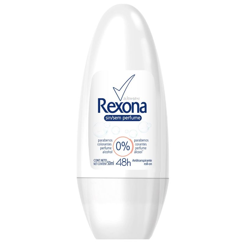 Desodorante Rexona Roll-on Sem Perfume 50ml