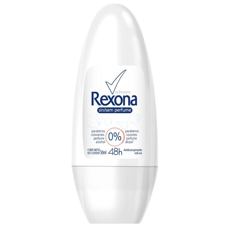 Desodorante Rexona Roll-on Sem Perfume 50ml  - Sofí Cosméticos