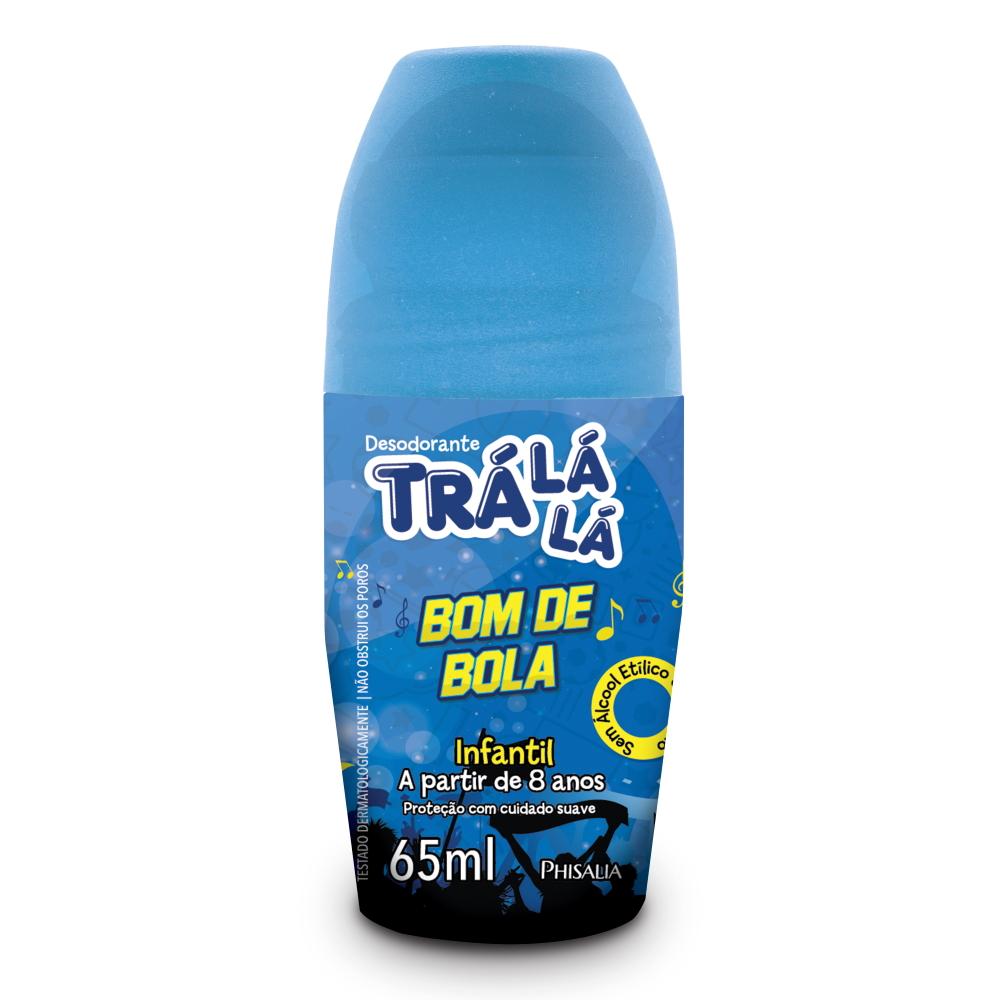 Desodorante Trá Lá Lá Kids Roll-on Bom de Bola