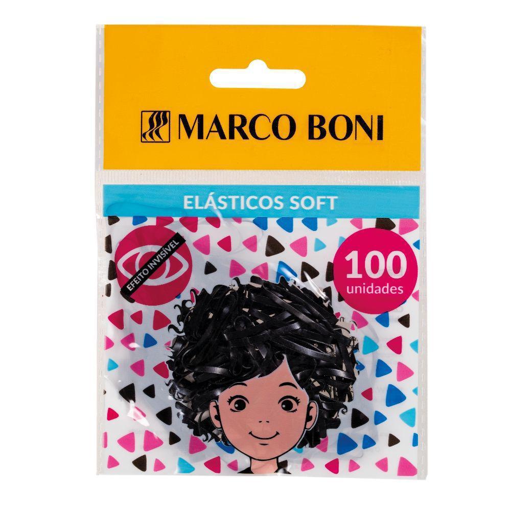 Elástico de Silicone Grosso Preto Marco Boni 100un