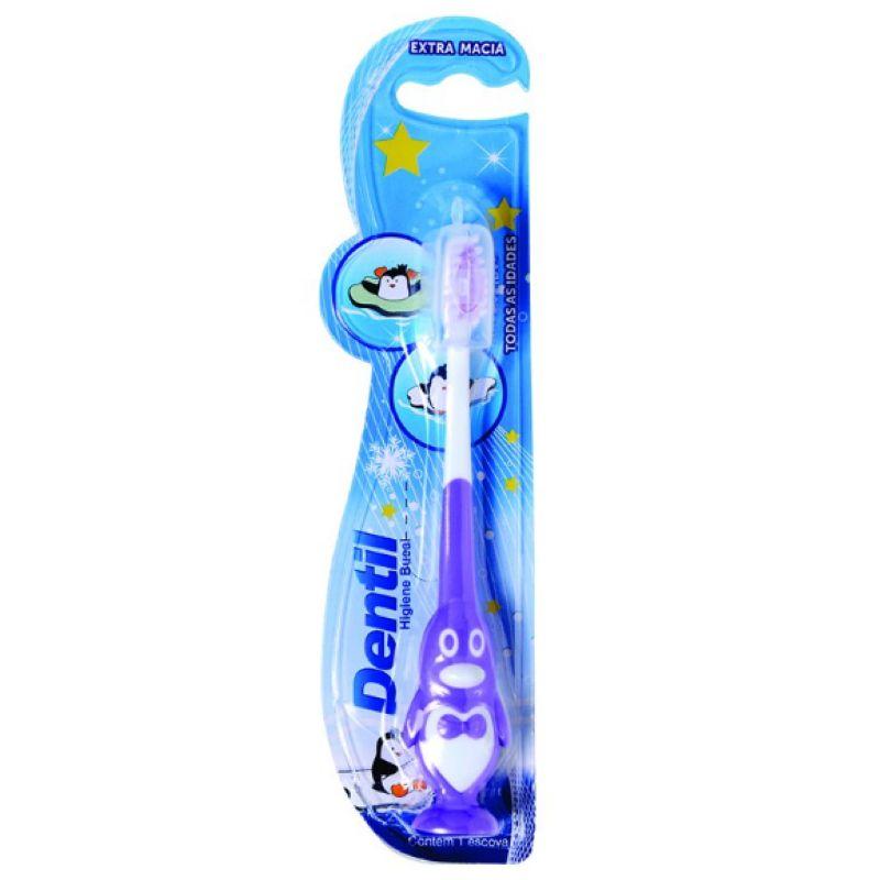 Escova Dental Infantil Pinguim Dentil  - Sofí Cosméticos