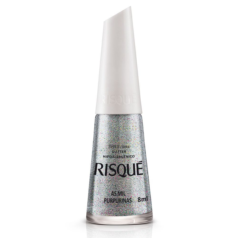 Esmalte Risque Glitter As Mil Purpurinas