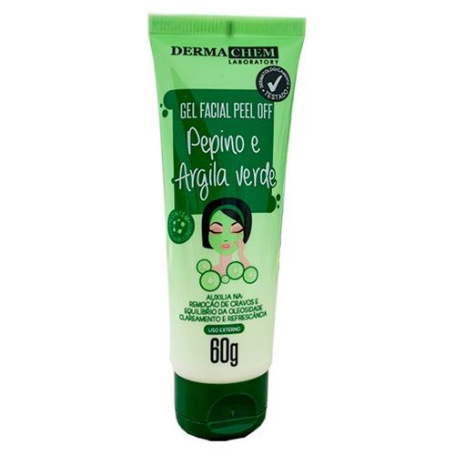 Gel Facial Peel Off Dermachem Pepino e Argila Verde