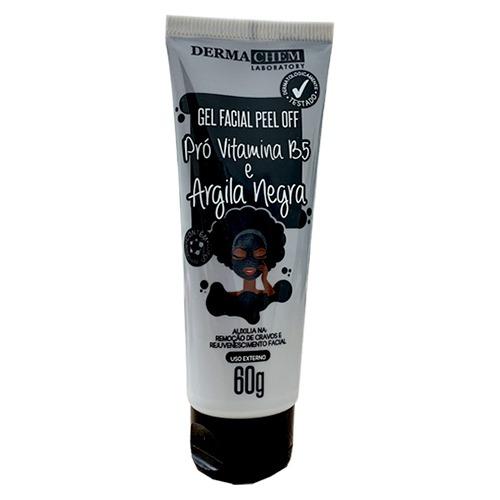 Gel Facial Peel Off Dermachem Pró Vitamina B5 e Argila Negra