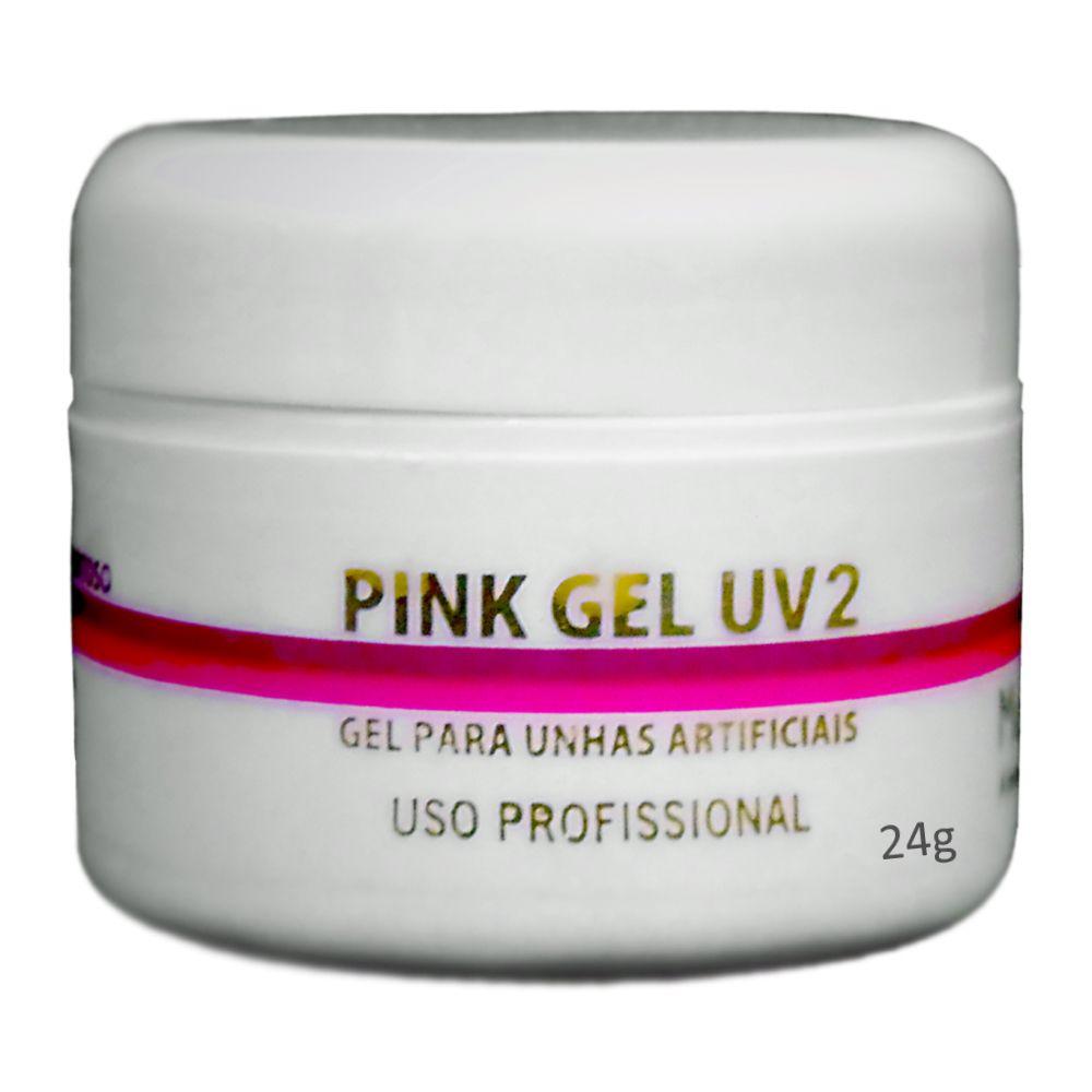 Gel Uv2 Pink Leitoso Muy Biela 24g