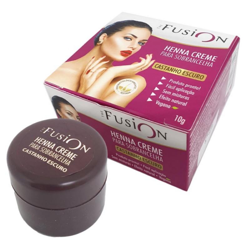 Henna Creme para Sobrancelha The Fusion Castanho Escuro