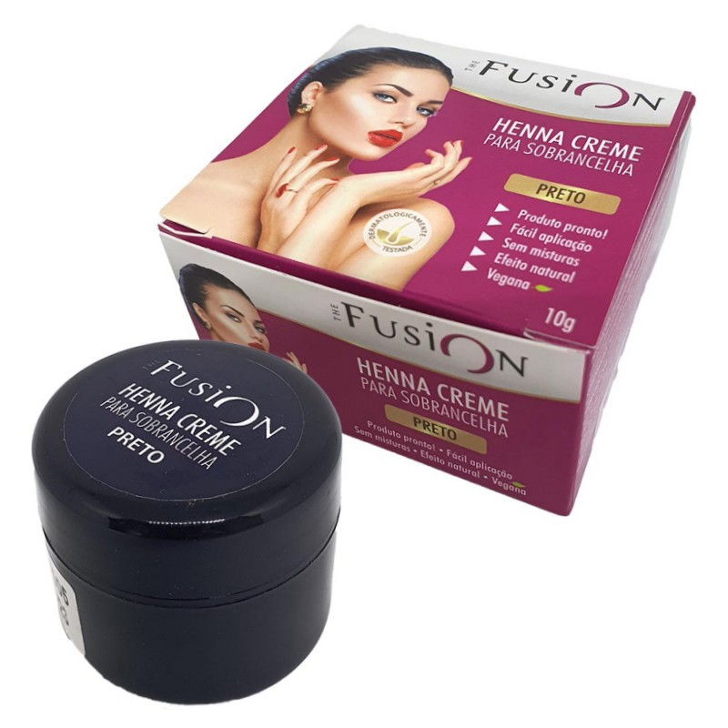 Henna Creme para Sobrancelha The Fusion Preto