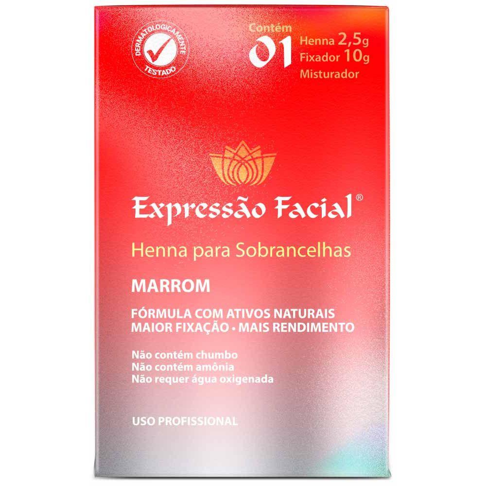 Henna Para Sobrancelha Expressão Facial Marrom