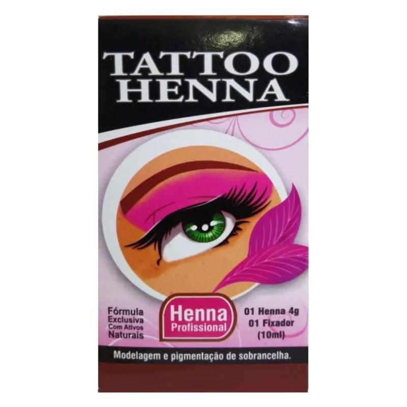 Henna para Sobrancelha Tattoo Henna
