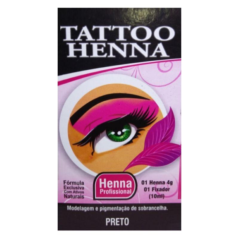 Henna para Sobrancelha Tattoo Henna Preto