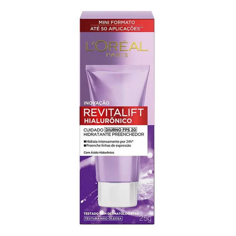 Hidratante Facial Revitalift Ácido Hialurônico FPS20 Loreal Paris 25g