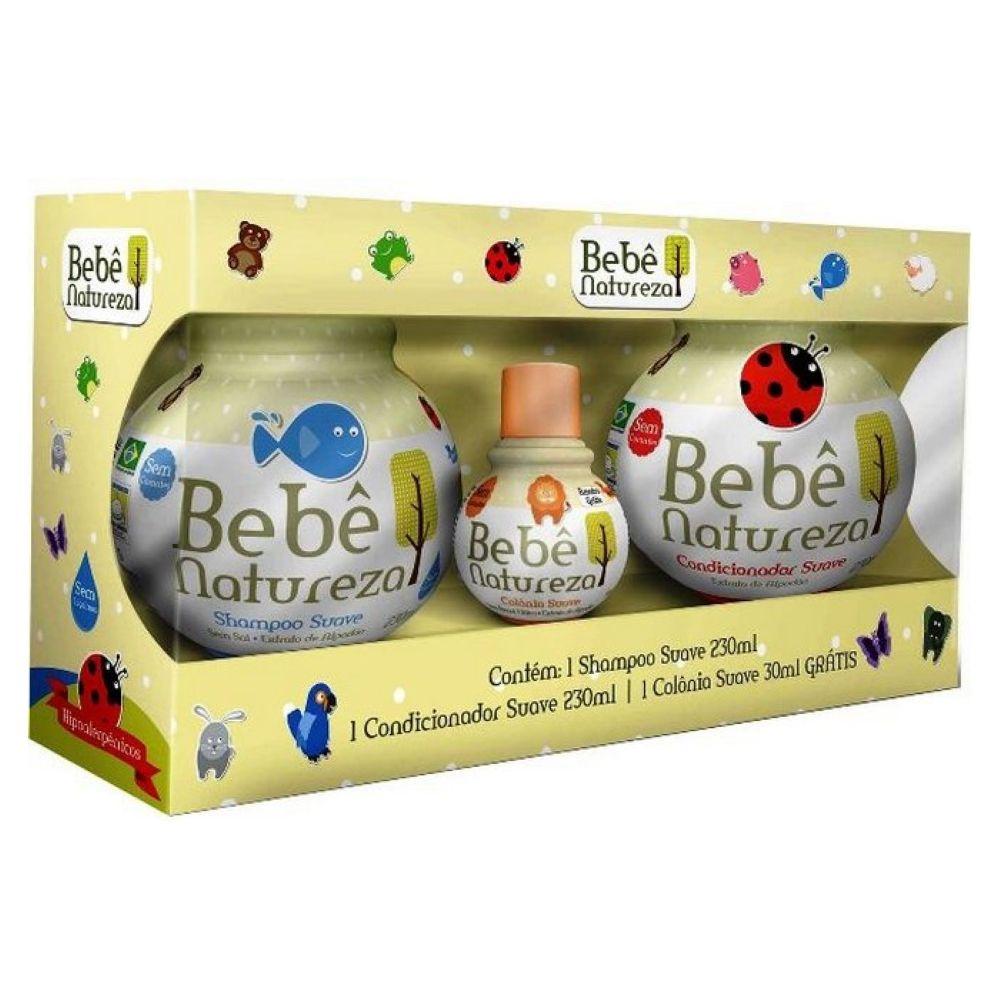 Kit Bebê Natureza Shampoo + Condicionador + Colônia