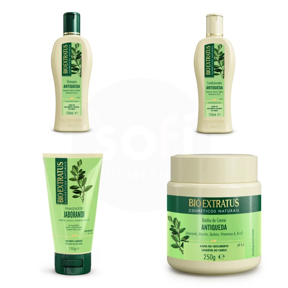 Kit Bio Extratus Antiqueda Jaborandi 4 produtos