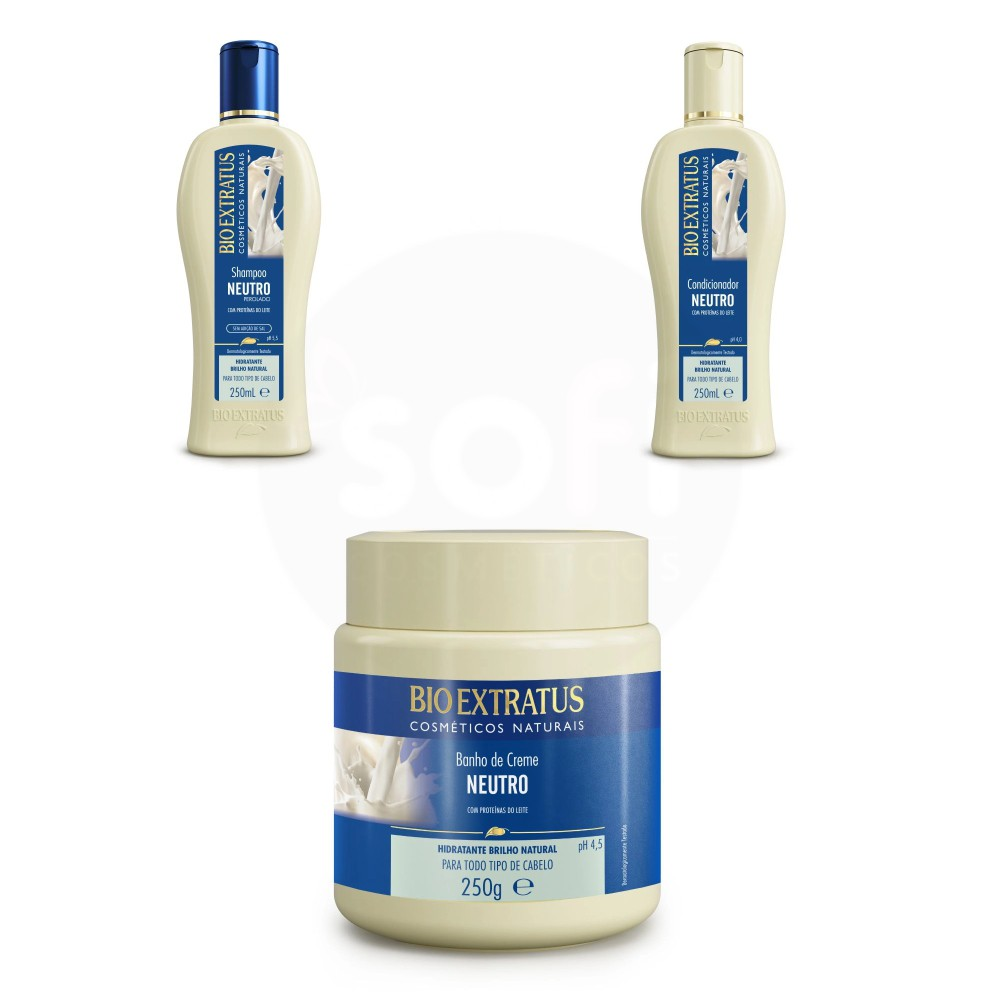 Kit Bio Extratus Neutro Proteínas do Leite 3 produtos