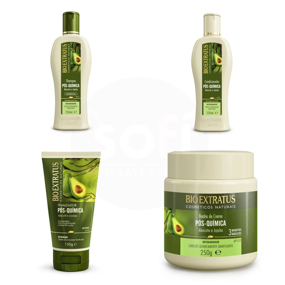 Kit Bio Extratus Pós Quimica 4 produtos
