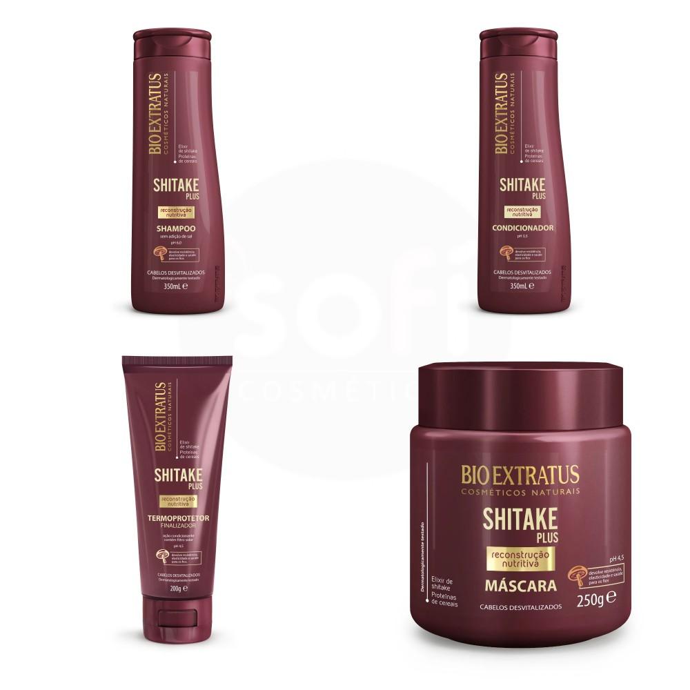 Kit Bio Extratus Shitake Plus 4 produtos