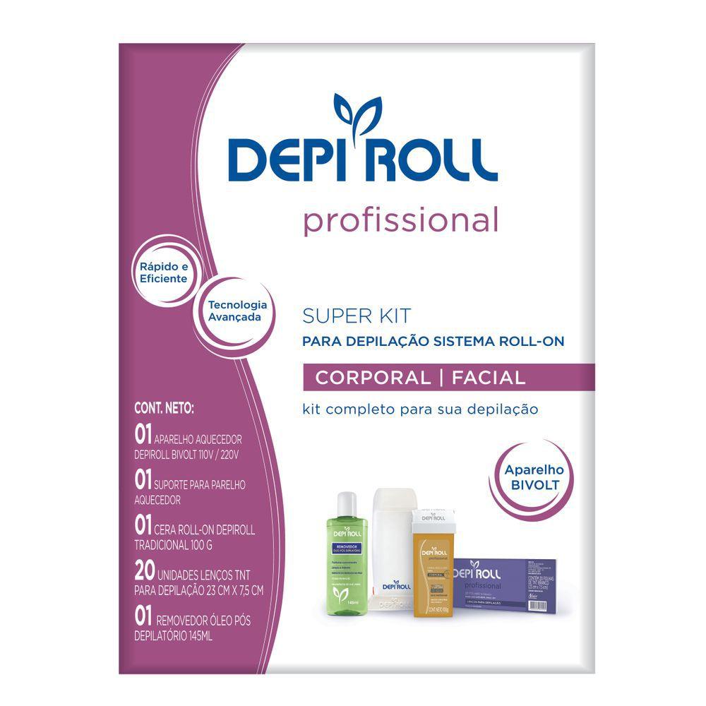Kit para Depilação Aquecedor Roll-on Bivolt Depi Roll