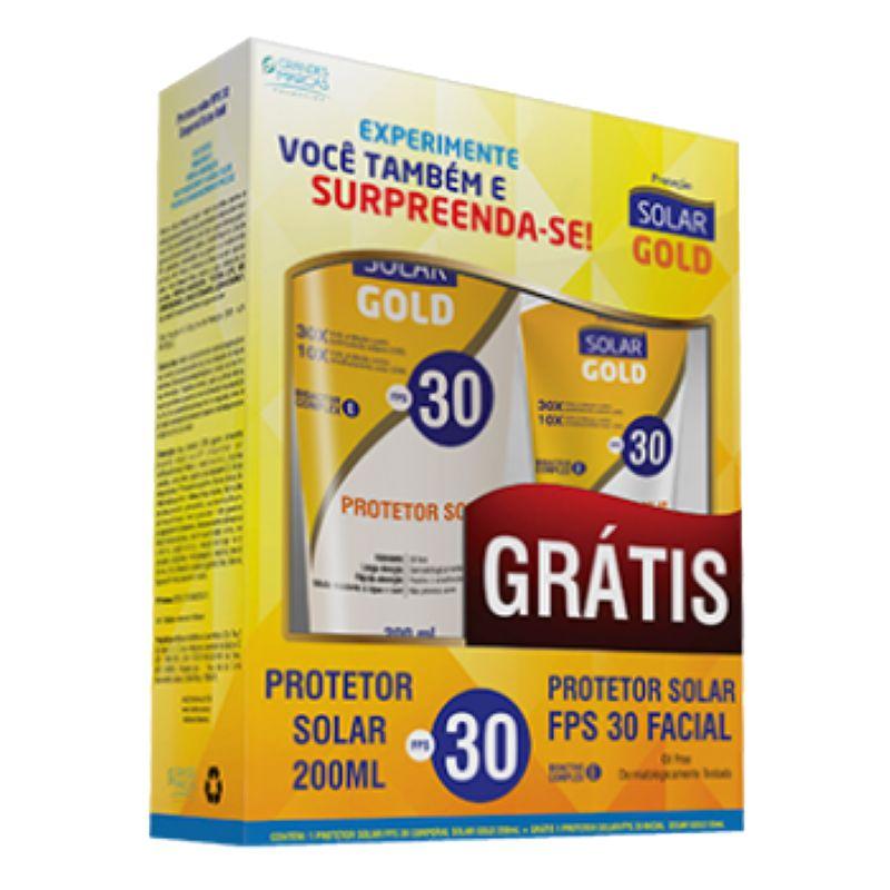 Kit Protetor Solar Corporal e Facial FPS30 Solar Gold